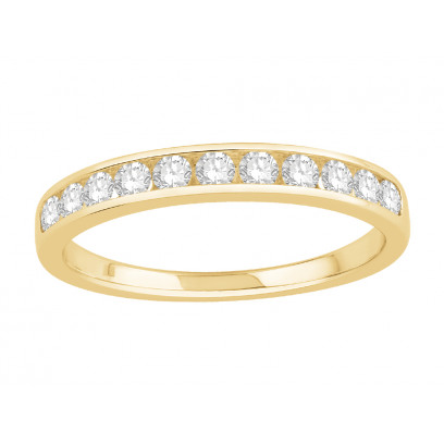 18 ct Yellow Gold Ladies Channel Set Eternity Ring set with 0.30 ct of Diamonds.