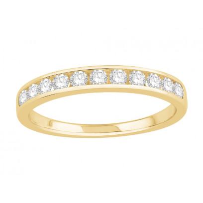 Platinum Ladies Channel Set Eternity Ring set with 0.30 ct of Diamonds.