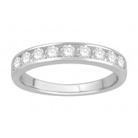 18 ct Yellow Gold Ladies Channel Set Eternity Ring set with 0.63 ct of Diamonds.