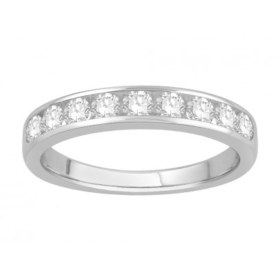 18 ct White Gold Ladies Channel Set Eternity Ring set with 0.63 ct of Diamonds.