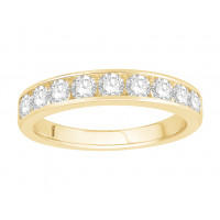 18 ct Yellow Gold Ladies Channel Set Eternity Ring set with 0.77 ct of Diamonds.