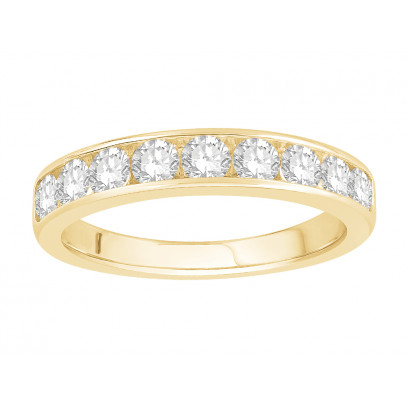 18 ct White Gold Ladies Channel Set Eternity Ring set with 0.77 ct of Diamonds.