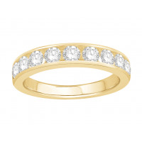 18 ct White Gold Ladies Channel Set Eternity Ring set with 1.0 ct of Diamonds.