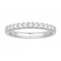 Platinum Ladies Undercut Set Eternity Ring set with 0.25 ct of Diamonds.