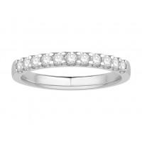 18 ct Yellow Gold Ladies Undercut Set Eternity Ring set with 0.25 ct of Diamonds.