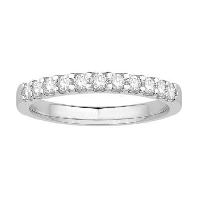 18 ct White Gold Ladies Undercut Set Eternity Ring set with 0.25 ct of Diamonds.