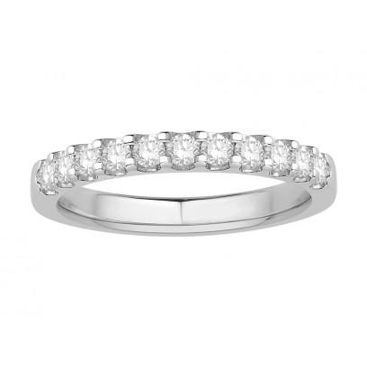 18 ct White Gold Ladies Undercut Set Eternity Ring set with 0.33 ct of Diamonds.