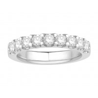 18 ct Yellow Gold Ladies Undercut Set Eternity Ring set with 0.75 ct of Diamonds.