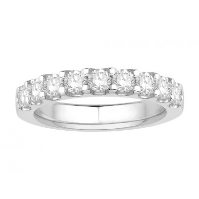 18 ct White Gold Ladies Undercut Set Eternity Ring set with 0.75 ct of Diamonds.