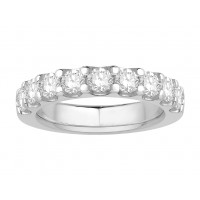 Platinum Ladies Undercut Set Eternity Ring set with 1.0 ct of Diamonds.