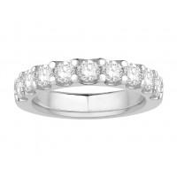 Platinum Ladies Undercut Set Eternity Ring set with 1.0 ct of Diamonds.