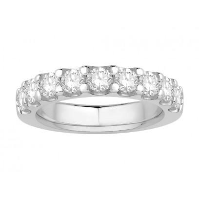 18 ct White Gold Ladies Undercut Set Eternity Ring set with 1.0 ct of Diamonds.