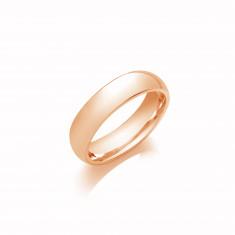 5mm Ladies Light Weight 9ct Rose Gold Court Shape Wedding Band