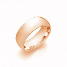 8mm Gents Medium Weight 9ct Rose Gold Court Shape Wedding Band