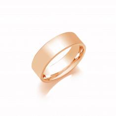 6mm Gents Light Weight 18ct White Gold Flat Court  Shape Wedding Band
