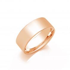 7mm Gents Light Weight 18ct White Gold Flat Court  Shape Wedding Band