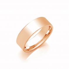 8mm Gents Medium Weight 9ct Rose Gold Flat Court  Shape Wedding Band