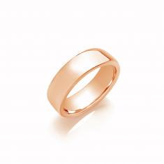 8mm Gents Medium Weight 9ct Rose Gold Soft Court Wedding Band