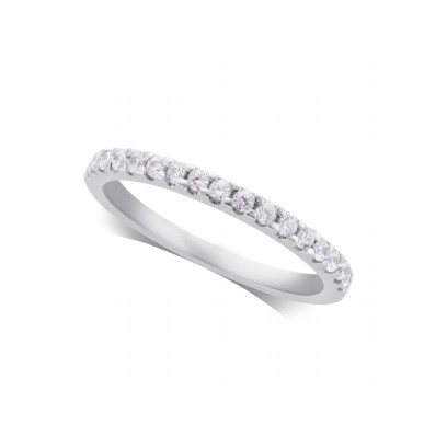 Ladies Palladium Diamond Set Wedding Ring