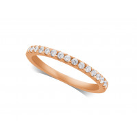 Ladies 9ct Rose Gold Diamond Set Wedding Ring