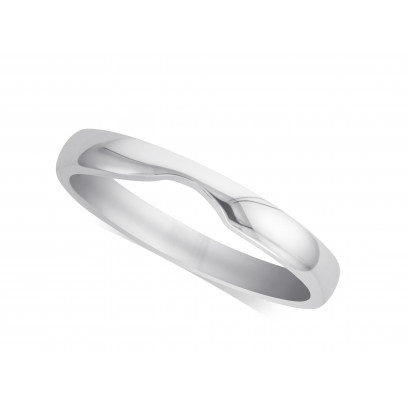 Ladies Palladium Cut Out Wedding Ring