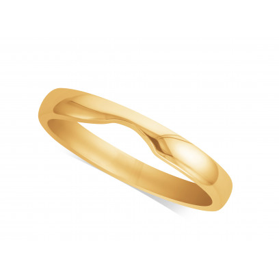 Ladies 9ct Gold Cut Out Wedding Ring