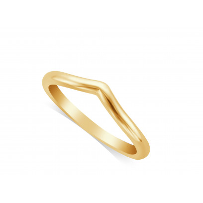 Ladies 18ct Gold ShapedWedding Ring