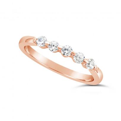 Ladies 18ct Gold 5 Stone Diamond Set Wedding Ring