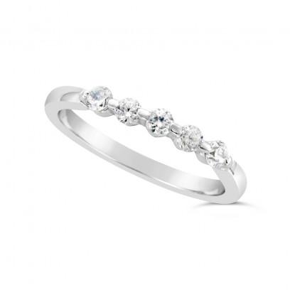 Ladies Platinum 5 Stone Diamond Set Wedding Ring