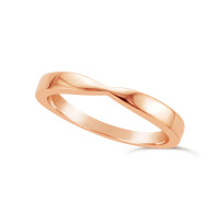 Ladies 9ct Gold Shaped Wedding Ring
