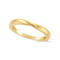 Ladies 9ct Gold Shaped Wedding Ring