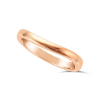 Ladies 18ct Gold Shaped Wedding Ring