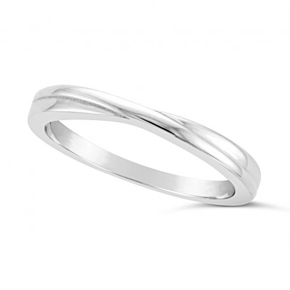Ladies Platinum Shaped Wedding Ring