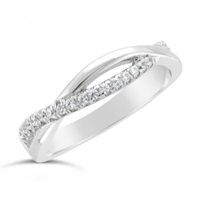 Ladies Palladium Diamond Set Wedding Ring