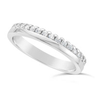 Ladies 9ct Gold Diamond Set Wedding Ring