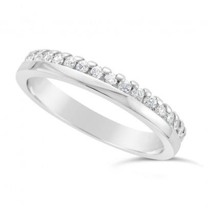 Ladies 18ct Gold Diamond Set Wedding Ring
