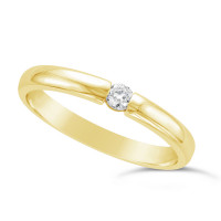 Ladies 18ct Gold Diamond Set Wedding Ring