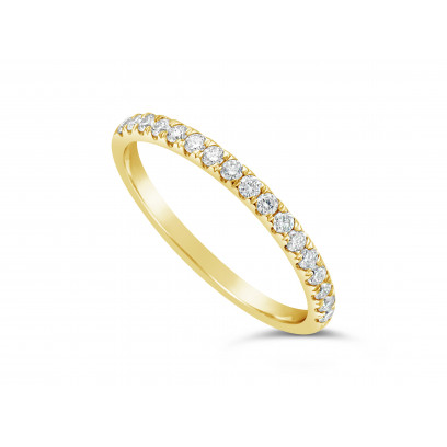 18ct Yellow Gold Ladies 0.34ct Pave Set Wedding Ring