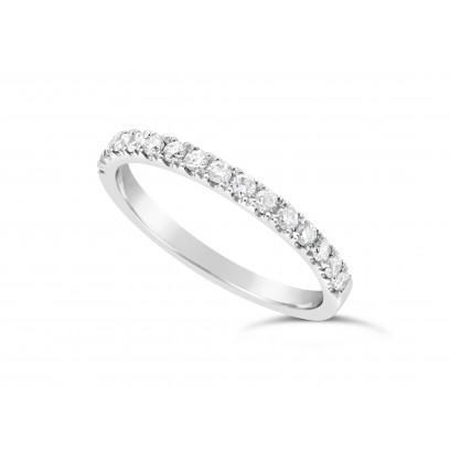9ct White Gold Ladies 0.33ct Pave Set Wedding Ring