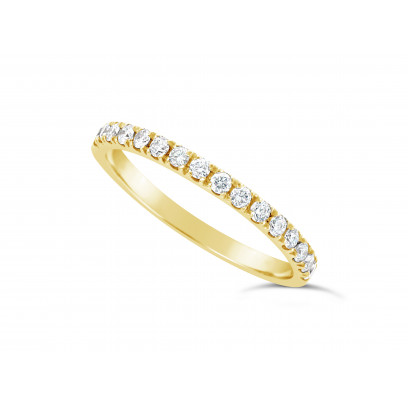 18ct Yellow Gold Ladies 0.33ct Pave Set Wedding Ring