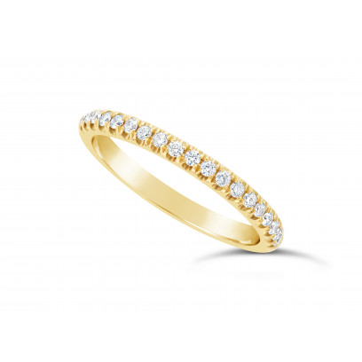 9ct Yellow Gold Ladies 0.20ct Pave Set Wedding Ring