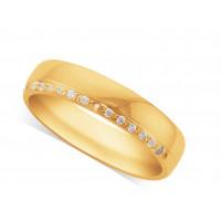 Gents 18ct Gold Diamond Set Wedding Ring