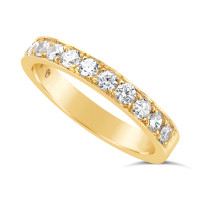 Ladies 9ct Gold Diamond Set Wedding Ring