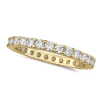 18ct Yellow Gold Ladies Claw Set Full Eternity Ring  Set With 0.50ct Of Diamonds