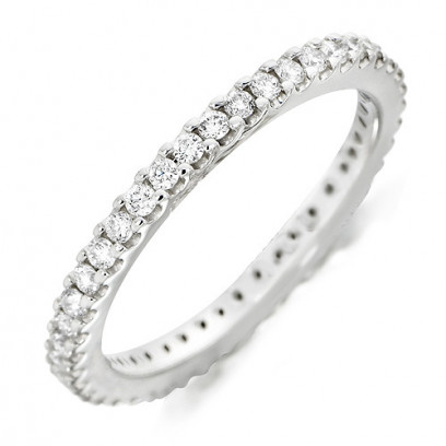 18ct White Gold Ladies Claw Set Full Eternity Ring Set With 0.50ct Of Diamonds