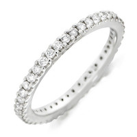 Platinum Ladies Claw Set Full Eternity Ring Set With 0.50ct Of Diamonds