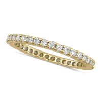 18ct Yellow Gold Ladies Claw Set Full Eternity Ring  Set With 1ct Of Diamonds