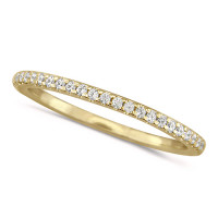 18ct Yellow Gold Ladies Claw Set Full Eternity Ring  Set With 0.75ct Of Diamonds