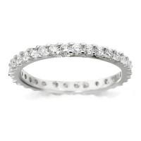 Platinum Ladies Claw Set Full Eternity Ring Set With 0.75ct Of Diamonds