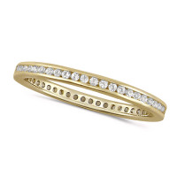 18ct Yellow Gold Ladies Channel Set Full Eternity Ring  Set With 0.25ct Of Diamonds